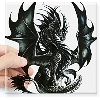 Protected By Dragons White Decal Car Truck Window