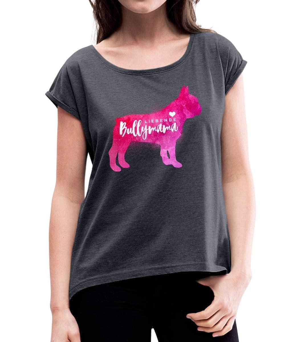 Bullymama Umriss Französische Bulldogge Frenchie Frauen Premium T-Shirt von