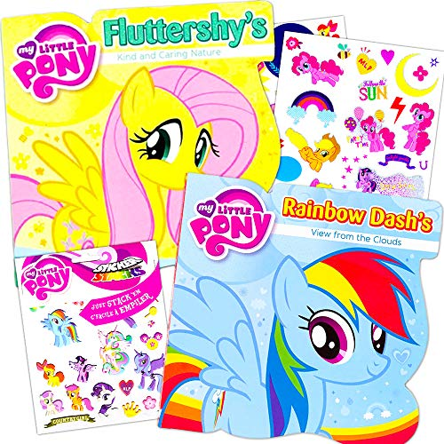 (My Little Pony Board Books Set -- 2 Books with MLP Stickers)