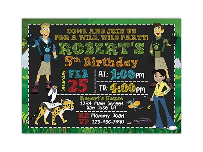 Amazon wild kratts birthday party invitations any age custom wild kratts birthday party invitations any age custom filmwisefo