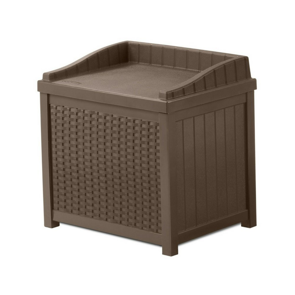 Outdoor Storage Box With Seat Contemporary Design 22-Gallon Capacity