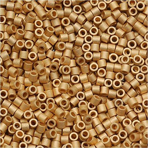 Miyuki Delica Seed Beads 15/0 Matte Metallic Bright 24 Karat Gold DBS331 4 Grams