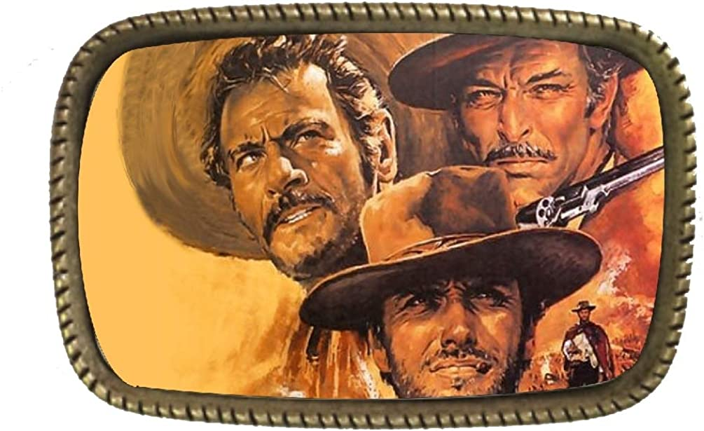 The Good Bad And The Ugly Cowboy Western Movie Belt Buckle