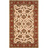 Momeni Rugs PERGAPG-10IVY2030 Persian Garden Collection, 100% New Zealand Wool Traditional Area Rug, 2' x 3', Ivory