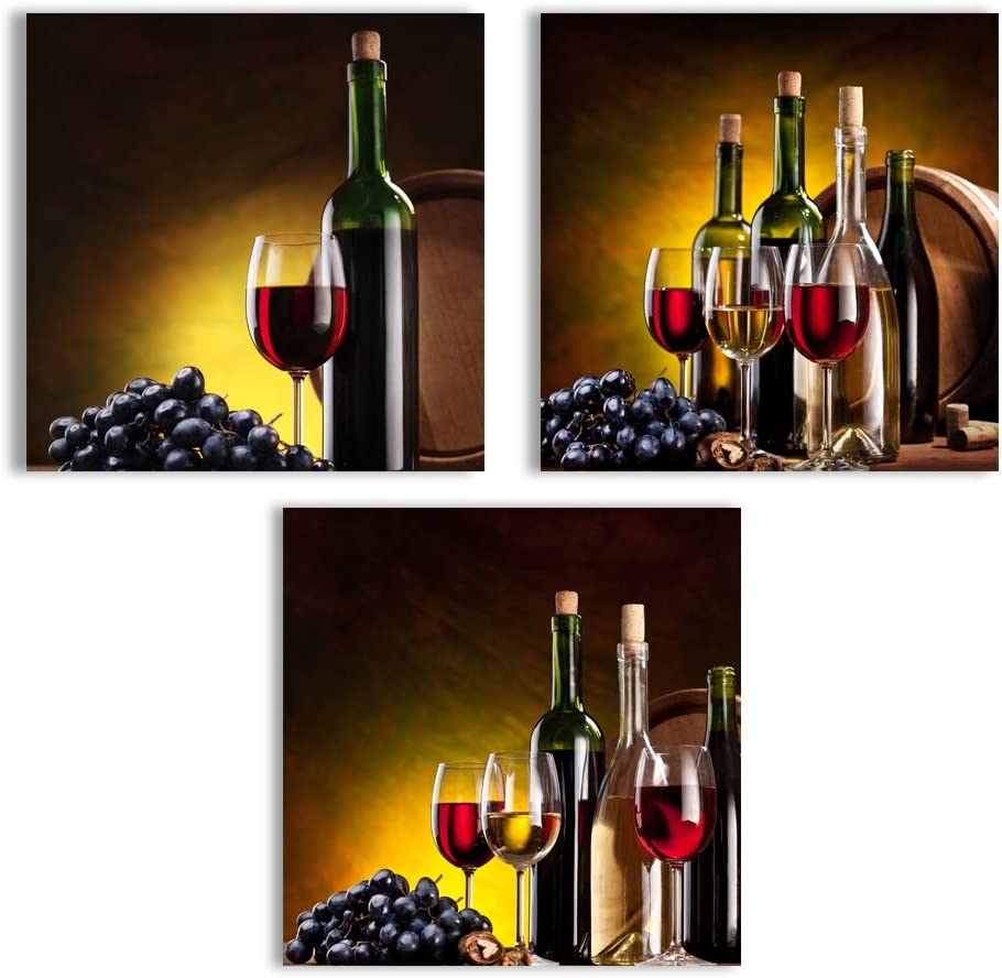 wall26 Canvas Wall Art Abstract Vintage Wine Cup Pictures Home Wall  Decorations for Kitchen Streched and Framed - 12\