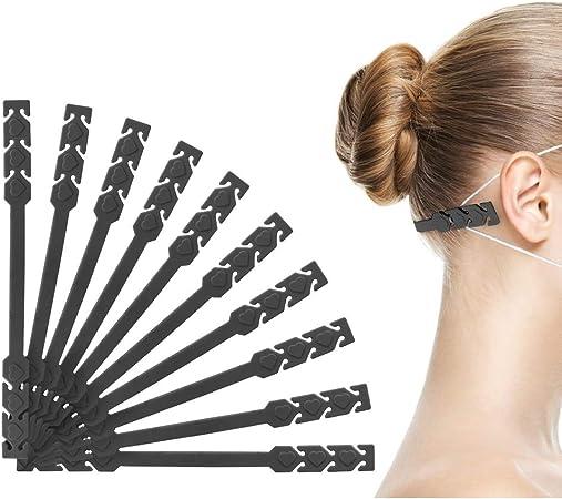 70 Black Ear Strap Saver Adjustable Ear Strap Saver Extenders Ear Strap Extender Holder,Comfortable face Extension Hook Band Clip,Ear Extenders//Ear Strap Savers