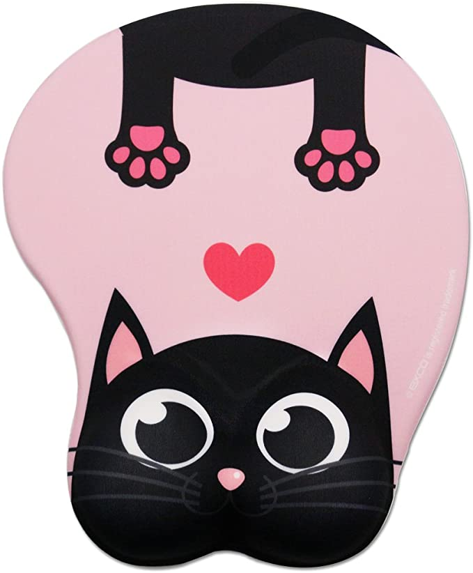 A new collection with the cute Art-dog cat A computer mouse pad with a Calico cat