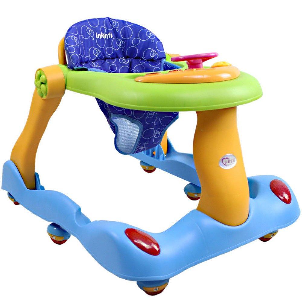 Multifunción Niño Anti-rollover Un Toque Plegable Baby Walker ...