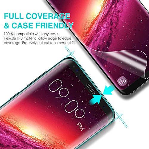 Galaxy S9 Plus Screen Protector, ZUSLAB TPU Case Friendly Full Coverage Film, Ultra Clear and Highly Touch Sensitive, Anti Scratch, Anti Bubble Protective Film for Samsung S9 Plus, 2018 (2 Pack)
