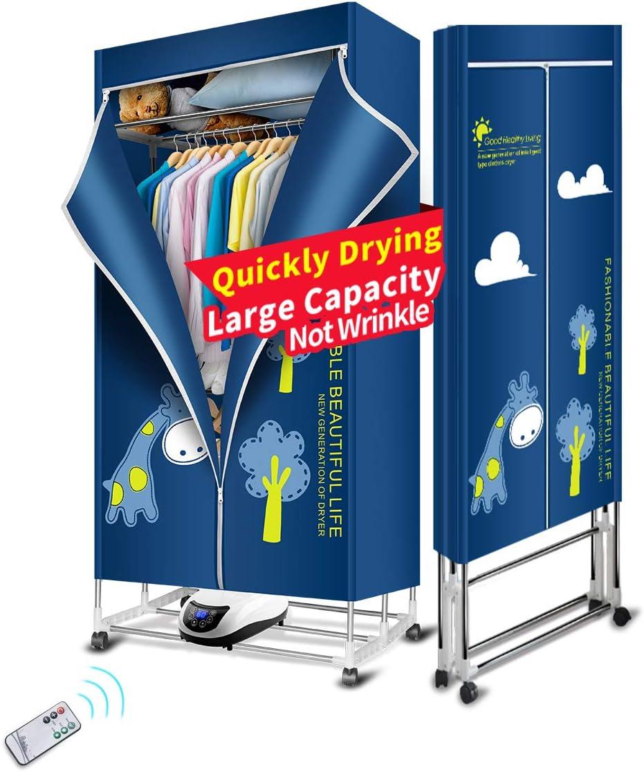 Kasydoff - Secador de ropa portátil 3 niveles, plegable, ahorro de energía, 1,7 m, temporizador digital automático con mando a distancia para casa de apartamentos