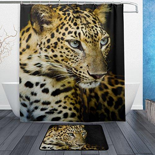 Franzibla Leopard Pattern Print Shower Curtains 60 x 72 inch
