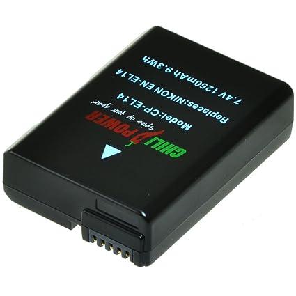 Batería ChiliPower Nikon EN-EL14, EN-EL14a 1250mAh para Nikon ...