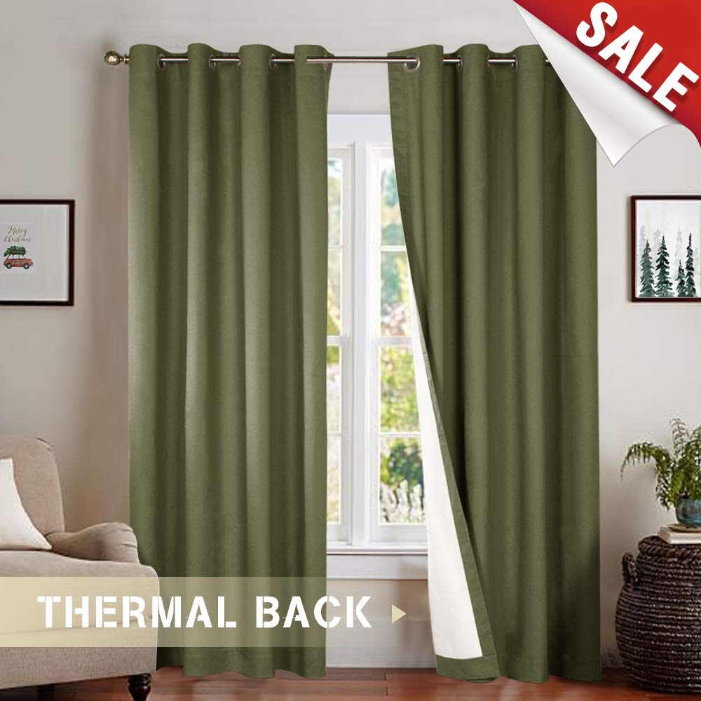 green curtains for bedroom