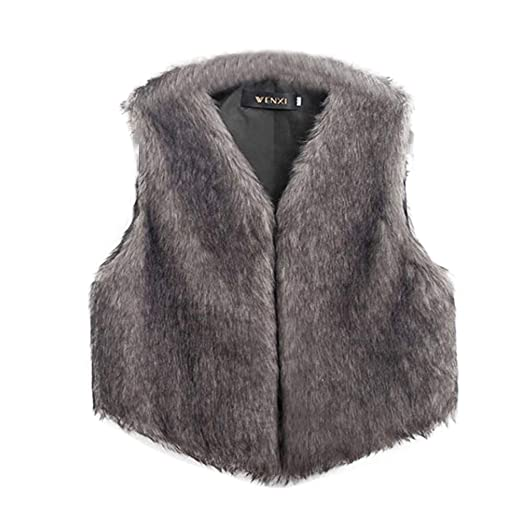 Amazon.com: Besde Womens Clearance Faux Fur Vest Sleeveless Long Hair Jacket Waistcoat: Baby
