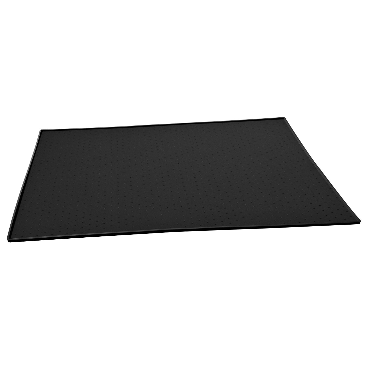 Goldwheat Pet Food Mat Dog Feeding Mat Large Waterproof Non-slip Pets Feeding Mat FDA Grade Silicone Dog Bowl Placemat Pet Feeding Tray For Cats and Dogs 24'' x 16'' Black