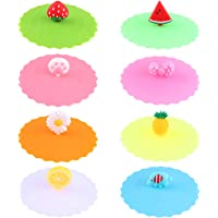 8 Stks Siliconen Glas Cup Covers 10 cm Siliconen Cup Deksel Herbruikbare Anti-stof Cup Covers Cartoon Koffie Mok Deksel…