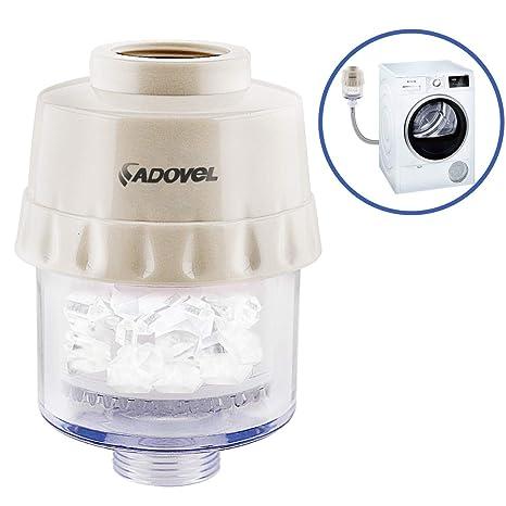 ADOVEL Filtro Antical para Lavadora o Lavavajillas, Descalcificador Agua de Polifosfato, Protege Tus Electrodomésticos y Ropa, Interfaz G3/4 con ...