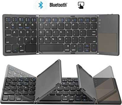 Colisal Teclado Bluetooth Plegable Tablet con Touchpad QWERTY Layout inalámbrico plegable teclado inalámbrico para PC, portátil, Smart TV, iPad, tabletas Android: Amazon.es: Electrónica