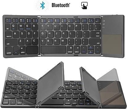 Colisal Teclado Bluetooth Plegable Tablet con Touchpad QWERTY Layout inalámbrico plegable teclado inalámbrico para PC, portátil, Smart TV, iPad, tabletas Android: Amazon.es: Electrónica