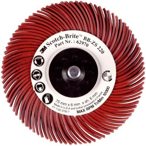 3M BB-ZB radiale Schleifbü rste Bristle, Typ C, Korn 80, Durchm. 76 mm Farbe gelb