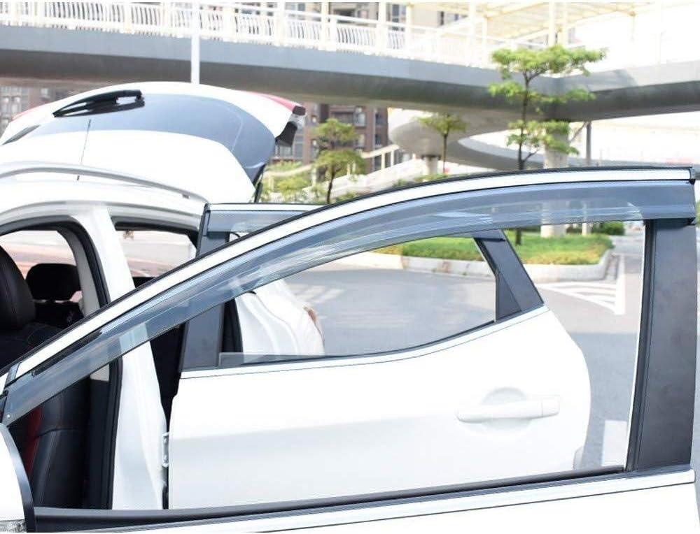 Side Door D/éflecteurs vent pare-pluie Shields Vent Guard Couvre Protecteur externe Fit 4Pcs Voiture D/éflecteurs Compatible avec Nissan Qashqai 2008-2015