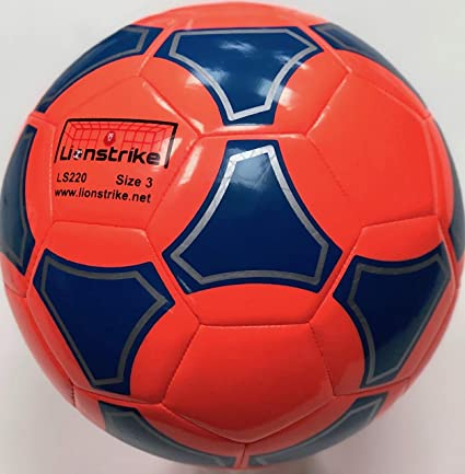 Lionstrike Balón de fútbol Ligero, de Cuero, de tamaño 3, Color ...