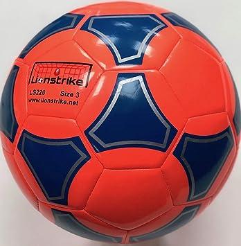 Balón de fútbol Lionstrike ligero, de cuero, de tamaño 3, color ...