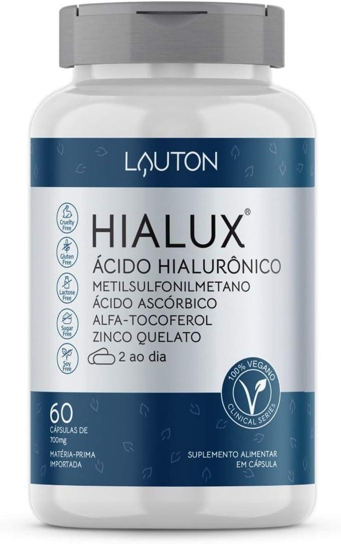 Hialux Acido Hialuronico 150mg Vegano 60 Capsulas Lauton por Lauton Nutrition