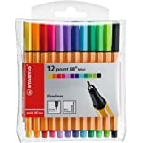 Stabilo Point 88 Mini Fineliner Pens , Set of 12 , Multicolored