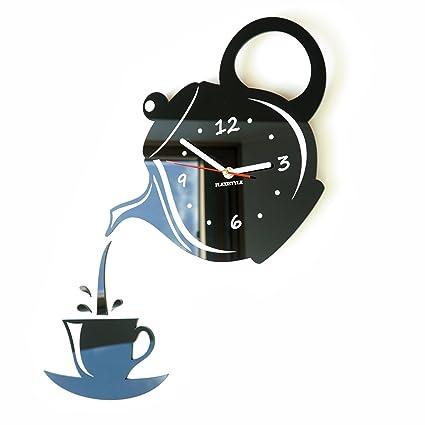 Flexistyle - Moderno orologio da parete per cucina a forma di tazza ...