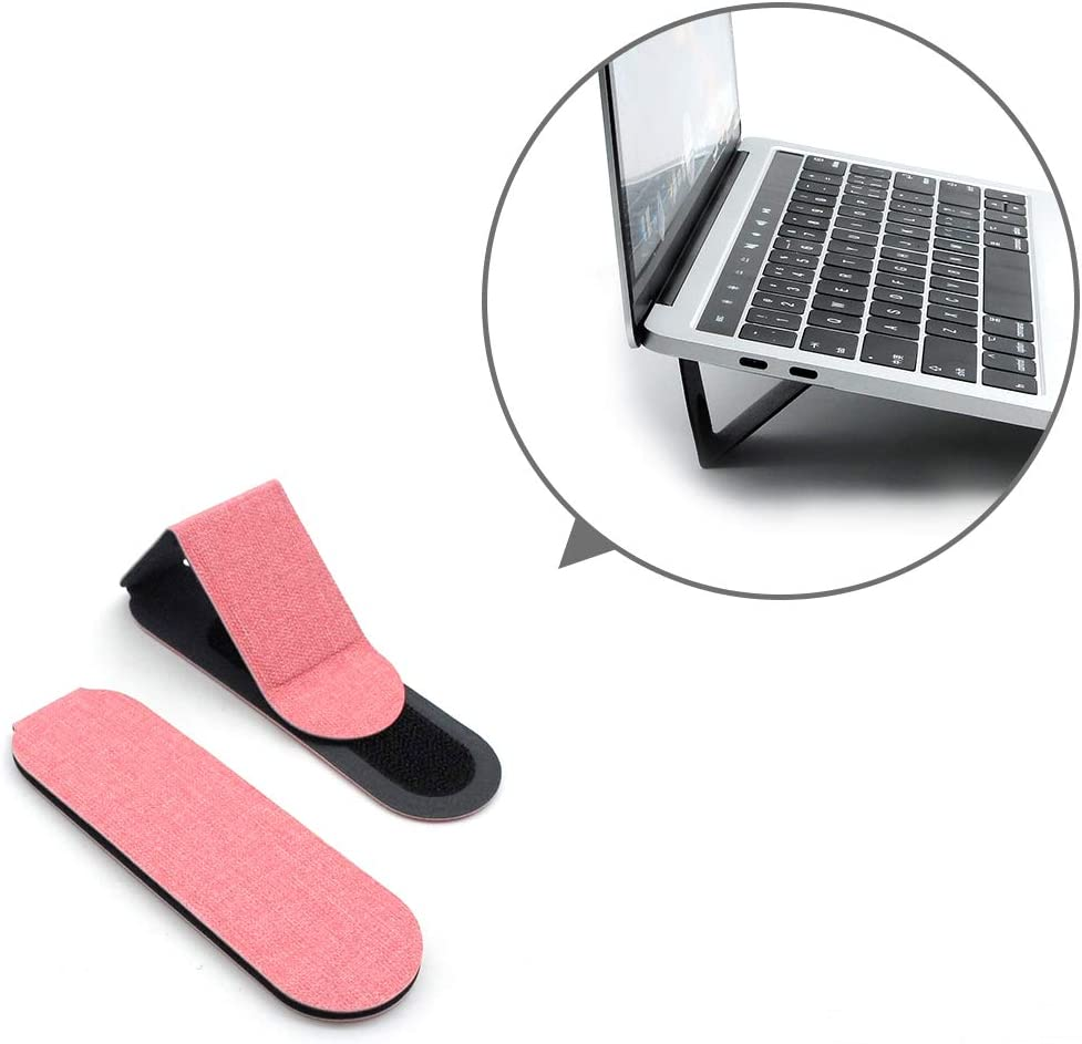 """SenseAGE Mini Portable Laptop Stand, Lightweight Laptop Stand, First On-The-go Notebook Stand, Compatible with MacBook/MacBook Air/MacBook Pro, Tablets and Laptops up to 15"""", Pink (1 Set, 2 Pack)"""