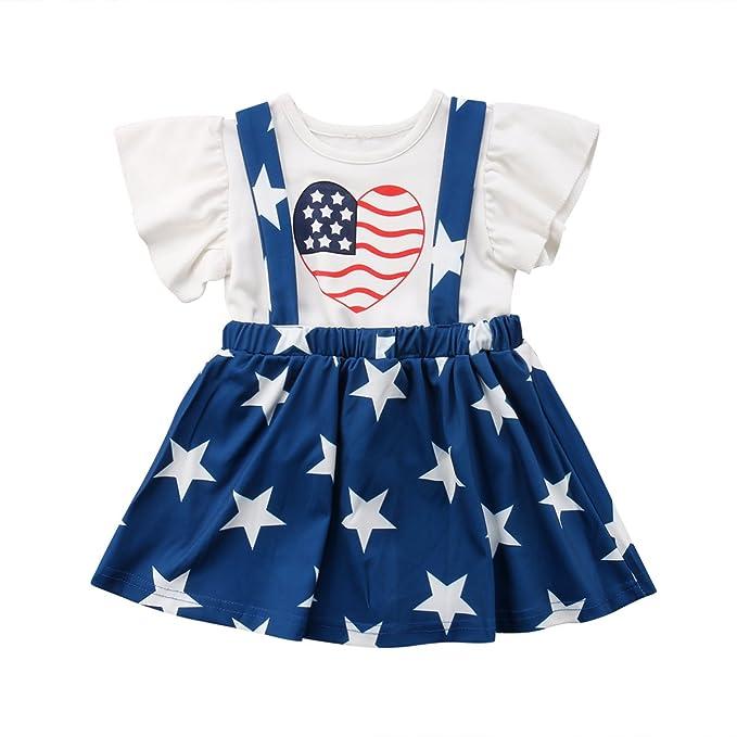 Amazon.com: addruali0 Infant bebé niña 4 de julio 2pcs ...