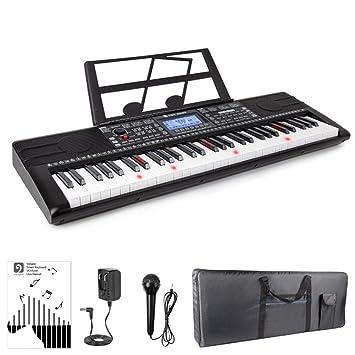 MUSIC Keyboard instrument Teclado de Piano eléctrico APLICACIÓN Inteligente iluminación de Teclas multifunción Principiante Que enseña a niños Adultos ...