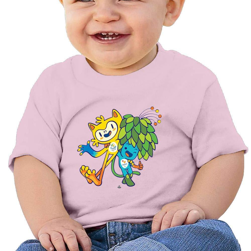BuecoutesRio De Janeiro Toddler//Infant Short Sleeve Cotton T Shirts Pink