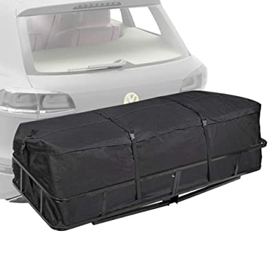 Trailer Hitch Cargo Carrier Bag - (10 Cubic Feet) Hitch Tray Cargo Carrier Bag for Vehicle Car Truck SUV Vans, Luggage Storage Bag for Hitch Racks, 1 Year Warranty: Automotive