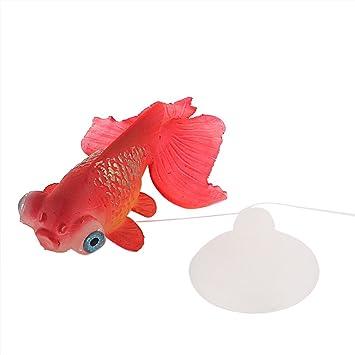 sourcingmap Ornamento Artificial Plástico Del Acuario Del Tanque De Pescados Del Pez De Colores Rojo: Amazon.es: Productos para mascotas