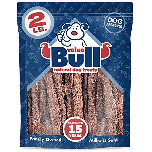 ValueBull Beef Tripe Chews, Premium 2 Pounds, Natural Dog Treats - Angus Beef, USDA/FDA-Approved