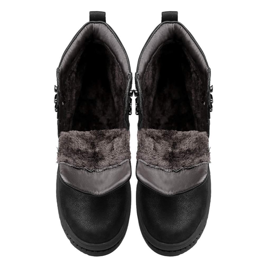 Shufang-schuhe Kurze Flusen in den Knöchelarbeitsstiefeln Herren für Herren Knöchelarbeitsstiefeln Winter Classic British Style Warm Stiefelies für Kaltes Wetter (Farbe   Schwarz, Größe   44 EU) 80e207