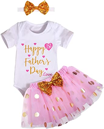 Sequins Bow Tutu Skirt Dress 2pcs Outfit Sets Newborn Baby Girl Clothes Romper