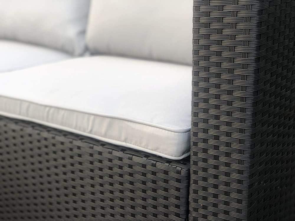 taburete,Grey Al aire libre Muebles de jard/ín Conjuntos de sof/á y mesa de caf/é
