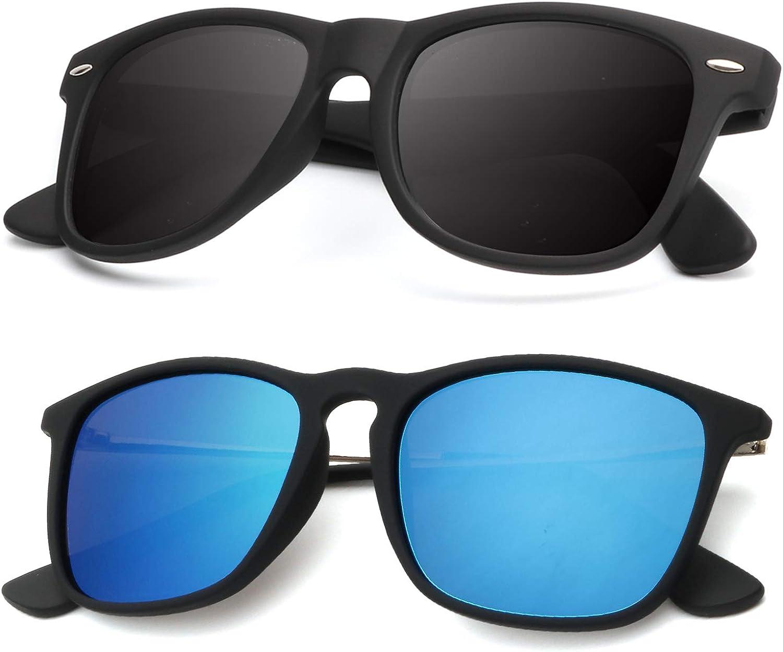 Men Polarized Sunglasses Driving Mirror Coating Black Sun Glasses UV400