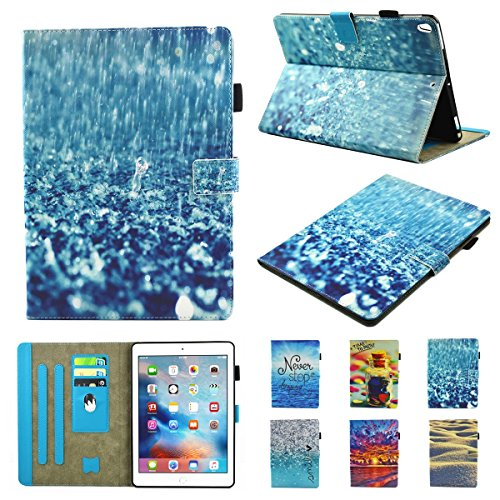 inShang iPad iPad Pro 10.5 Fundas soporte y carcasa para iPad Pro 10.5 inch ((2017 Release) , smart cover PU Funda con Patrón de Diamante + clase alta 2 in 1 inShang marca negocio Stylus pluma rain