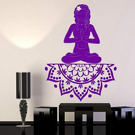 guijiumai EST Diseño Vinilo Tatuajes de Pared Yoga Chica ...