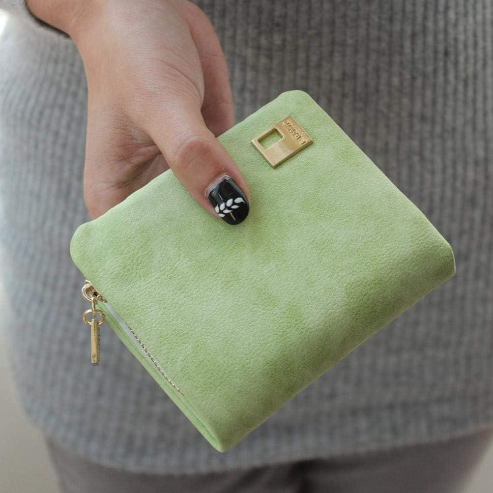 Usstore Clutch Change Coin Bag Women Purse Mini Ladies Handbag Wallet Light Green