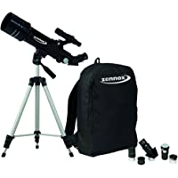 Zennox 70 x 400 Refractor Portable Travel Telescope 400m Focal Length 2x24 Finder Scope with Carry Bag and Tripod - Great Gift for Men and Women