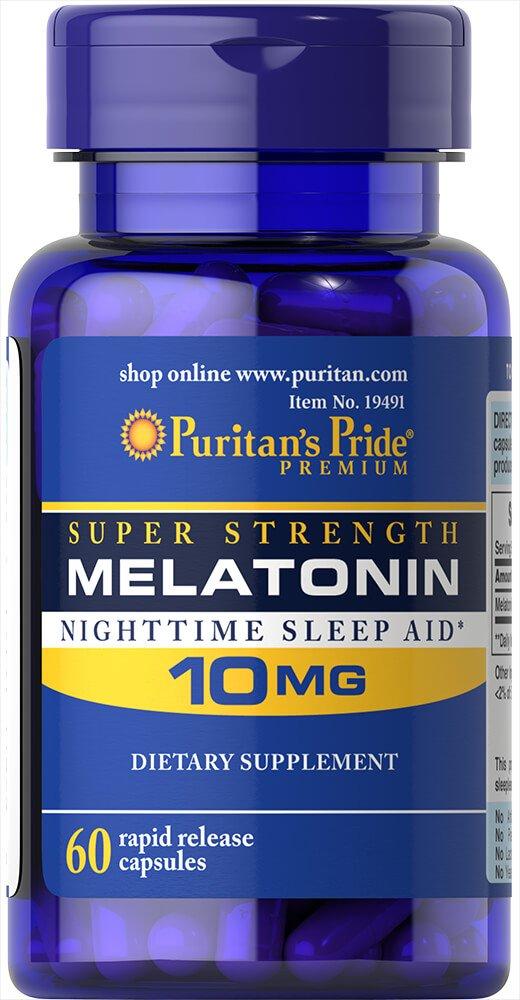 Amazon.com: Puritans Pride Melatonin 10 mg-60 Capsules: Health & Personal Care
