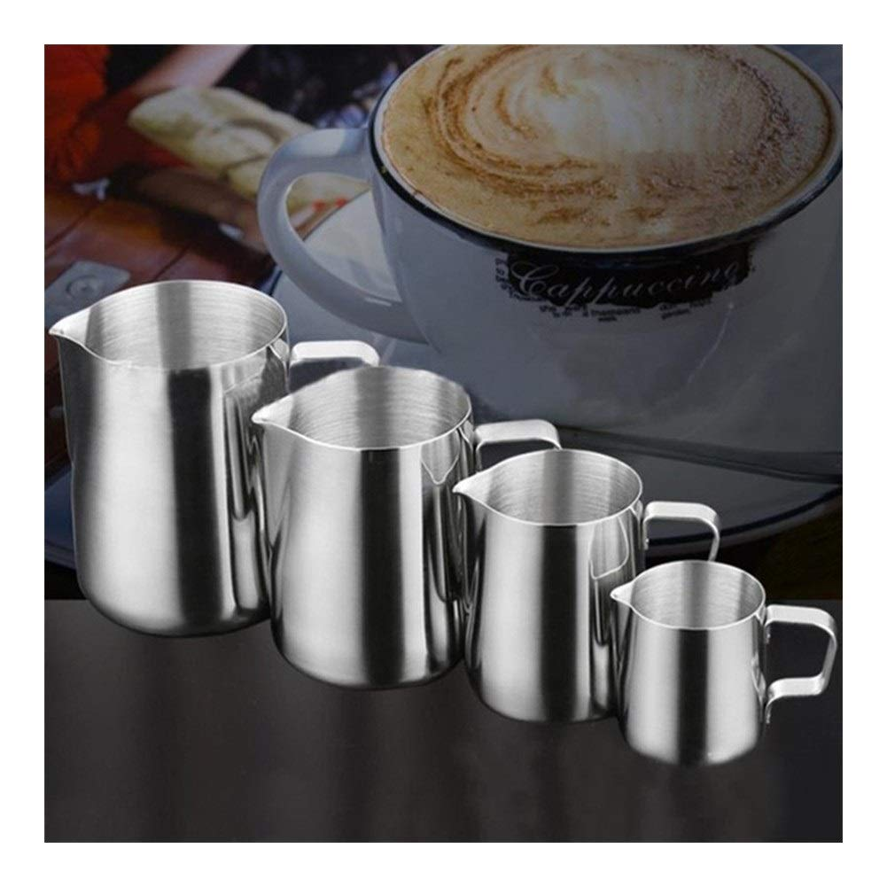 XIAOLAOBIAO Stainless Steel Frothing Coffee Pitcher Pull Flower Cup Cappuccino Milk Pot Espresso Cups Latte Art Milk Frother Frothing Jug (Color : 1000ml, Size : 1) by XIAOLAOBIAO