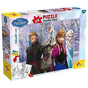 Lisciani 49301 Frozen My Friends Puzzle Doppia Faccia Plus 108 Pezzi