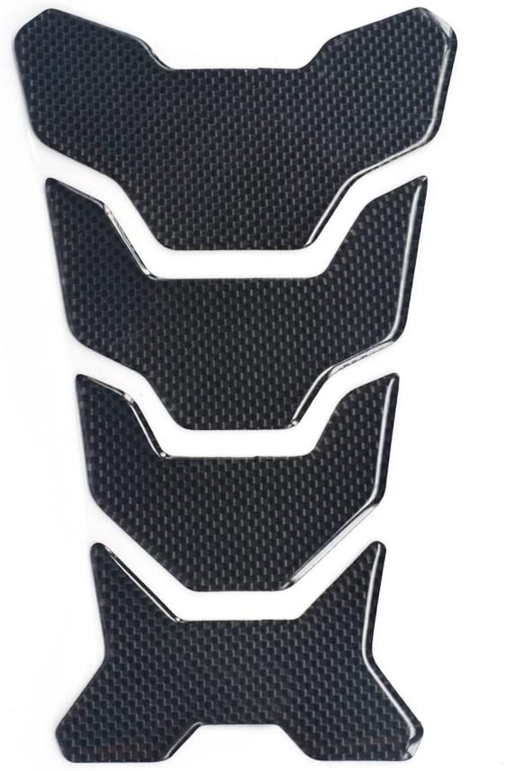 Universal Rubber Oil Tank Cover Pad Carbon Fiber Sticker Gas Tank Decal Fuel Tank Protector for Racing Bike Kawasaki KX65 KX85 KX125 KX250 KX500 Black