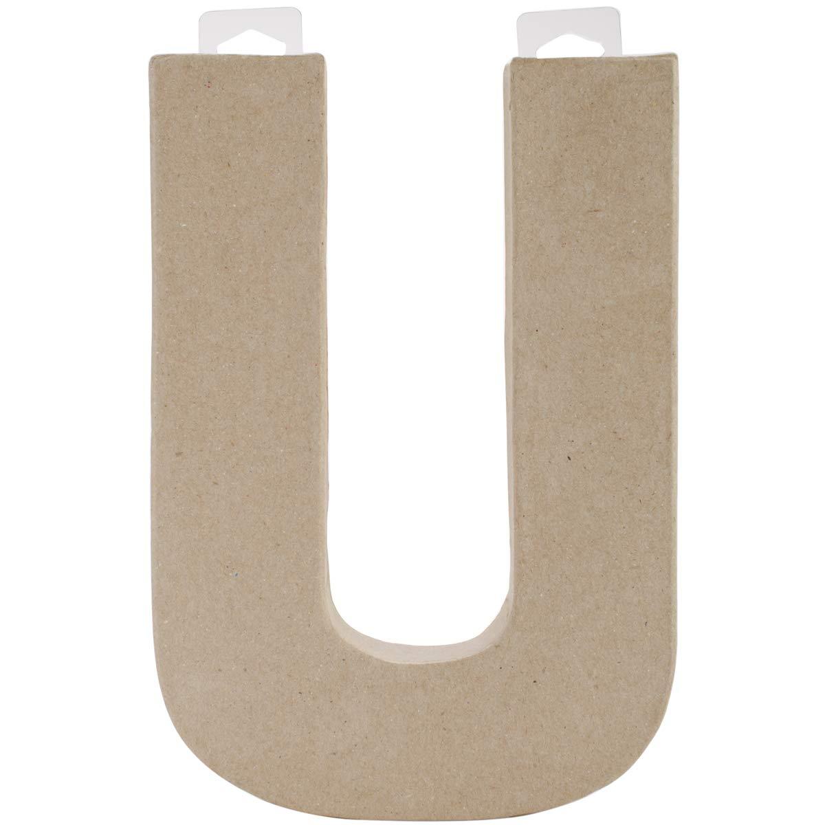 Paper Mache Letter U 8 X 5.5 Inches (12 Pack)